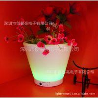 供应批发园林花盆 塑料花盆 环保花盆 创意家具 led发光花盆