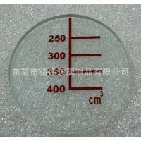 刻度丝印玻璃 抗热玻璃 视镜透明玻璃片 耐高温玻璃电子玻璃