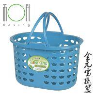 厂家直销金元宝提篮 超市购物篮 塑料水果收集手提篮 环保收纳筐