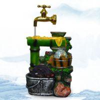 新品 悬浮水龙头创意喷泉流水装饰品 竹子工艺品 实用情侣礼物