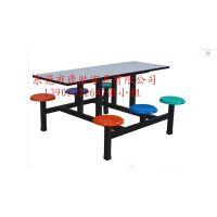 供应东莞工厂食堂餐桌椅~整洁美观学校食堂餐桌椅#六人位条形餐桌椅批发价格