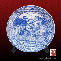 青花手绘大瓷盘 手绘陶瓷大瓷盘 唐龙陶瓷