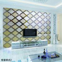 沙河厂家大量供应优质KTV玻璃车刻菱形镜背景墙工艺艺术玻璃价格优