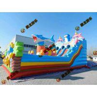 淘气堡乐园儿童充气城堡 蹦蹦床滑梯气模玩具游乐设备 高滑梯城堡蹦蹦床