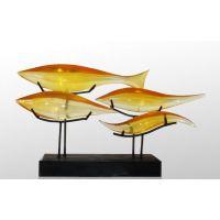进口透明材料雕塑,酒店高档雕塑,雕塑厂家,透明鱼雕塑摆件抽象雕塑家居饰品摆件 软装饰品