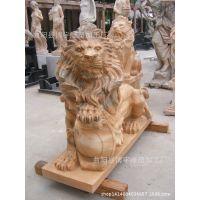 石雕狮子 现代仿真 狮子 天然石材 狮 子欧式狮 子门口狮  子