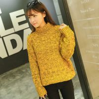高领加厚打底衫2015秋季新款韩版明星粗针气质宽松套头毛衣外套女