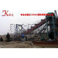 福建链斗式挖沙选金船 水上联合采选设备