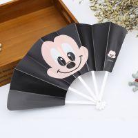 韩国文具 创意礼品 七折花边儿童塑料折叠扇子动漫折扇批发代理