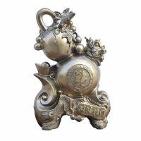 青铜树脂工艺品批发 家居装饰用品财富临门 商务创意礼品工艺摆件