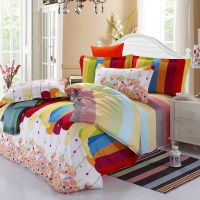 纯棉四件套韩版公主床上用品床裙床罩全棉床单被套-炫彩