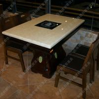 限时秒杀 简约餐厅火锅桌 常规4人位火锅桌 无烟环保餐桌椅
