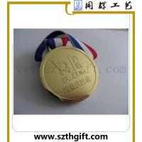 供应镀金奖牌 锌合金压铸镀金奖牌可来图稿生产 深圳同辉定做厂