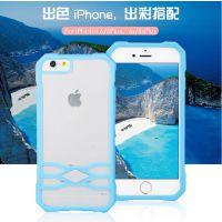 俊奇Jun-Q51 iphone6手机壳透明6s plus磨砂壳TPU+PC4.7寸批发定制