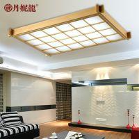 现代简约实木吸顶灯 创意日式客厅餐厅灯个性田园卧室书房LED灯具