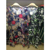 2015夏季新款印花立体花朵宽松短袖大码连衣裙长裙女 N95025