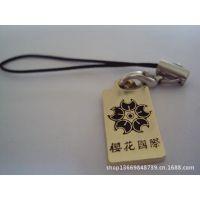厂家订制 木质手机吊绳 镶钻手机挂件 情侣手机链