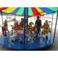 12座简易旋转木马,玻璃钢材质的转马多少钱一套,转马生意挣钱吗?