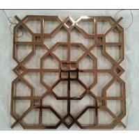 厂家来图来样304#满焊不锈钢钛金拉丝花格