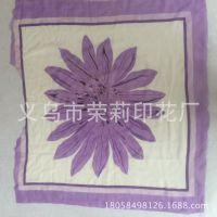供应超柔方巾热升华转移水浆丝网台板手工印花加工