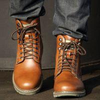 西瑞英伦马丁靴子男牛皮靴子男士棉靴冬季男鞋军靴短靴潮流真皮靴