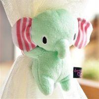 日本忧伤马戏团薄荷小象 卡通毛绒窗帘扣窗帘绑带窗帘夹 家居用品