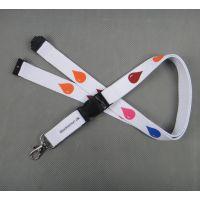 慈善机构专用爱心胸卡挂绳定做 批发多色丝印涤纶加厚安全工牌挂带