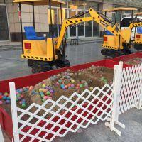 儿童游乐场挖掘机带顶棚的可360度旋转挖土机多少钱一台厂家直供挖掘机