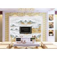 大理石纹路瓷砖背景墙 高端大气 彩雕UV亮光瓷砖背景墙 佛山厂家直销