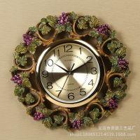 厂家直销2014低价优惠复古创意爱情精美树脂工艺礼品葡萄时钟挂件