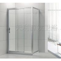佛山工厂直销淋浴房 浴室隔断移门钢化玻璃弧形门 可定制尺寸