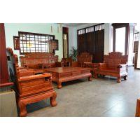 财源滚滚沙发 东阳红木沙发厂家直销-古典客厅家具组合