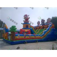 广东大型儿童蹦床,新款充气滑梯设计精订做