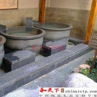 日本泡澡缸厂家直销 上海极乐汤洗浴中心专用大缸 陶瓷养生缸厂家