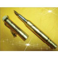 深圳厂家供应铜镶玉笔 插套式钢笔 手写笔 欢迎定做