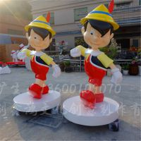 玻璃钢卡通雕塑 商场美陈小品摆件 广州厂家直销定做