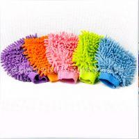 雪尼尔小号双面洗车手套 珊瑚绒洗车手套 家居清洁用品 汽车清洗