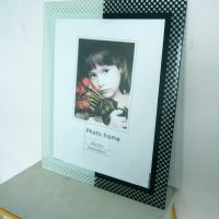 家具高档水晶悬挂式玻璃相框 创意艺术写真照片相框厂家直销