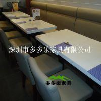 供应长方形大理石餐桌 色彩亮丽耐磨 连锁餐厅