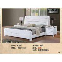 一米八象牙白橡木床环保漆家具床 实木物流直达厂家直销床实木