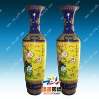 陶瓷大花瓶加工,开业庆典陶瓷大花瓶,青花手绘大小花瓶摆件厂家
