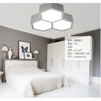新款蜂窝led吸顶灯卧室灯客厅灯具遥控调光圆形温馨餐厅书房灯饰