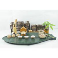 厂家专业提供 绿叶系列正品小茶盘组合石茶盘 可供批发