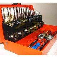 丝锥板牙组套 32件套高速钢丝锥板牙套装公制钢盾工具*