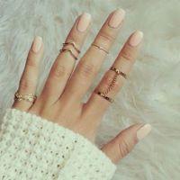 R021 速卖通爆款欧美外贸饰品 个性时尚 百搭镶钻 连指 套装戒指