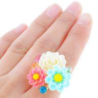 新款 速卖通 欧美 外贸饰品批发 镀金 玫瑰花 合金 开口 合金戒指