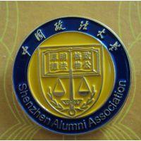 金属烤漆徽章,狮子会LOGO胸章,定制科技学校胸章,中国大学徽章
