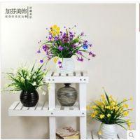 塑料花小盆栽套装花(仿真花-蝴蝶兰花 草绿植室内外家居装饰摆放