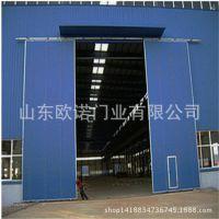 【专业生产】彩钢夹芯板门 山东推拉门  工业推拉门 厂房推拉门