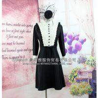 2015新款外贸原宿风软妹蕾丝半袖连衣裙
